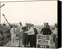 First Lady Canvas Prints - Eleanor Roosevelt At A Wpa Site In Des Canvas Print by Everett