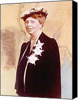 First Lady Canvas Prints - Eleanor Roosevelt. Hand Colored Canvas Print by Everett
