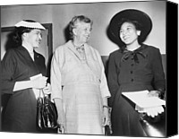 First Lady Canvas Prints - Eleanor Roosevelt, With Two African Canvas Print by Everett