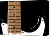 Fender Digital Art Canvas Prints - Electric Guitar Canvas Print by Michael Tompsett