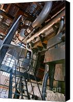 Abstract Building Canvas Prints - Electric Plant Canvas Print by Carlos Caetano