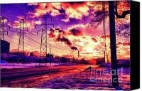 Power Lines Canvas Prints - Electric Skies Canvas Print by Chuck Alaimo