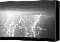 "\""striking Photography\\\"" Canvas Prints - Electric Skies in Black and White Canvas Print by James Bo Insogna"