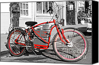 Cigars Canvas Prints - Electric Vehicle . Peddle Power . Infinite Miles To The Gallon . 7D12730 Canvas Print by Wingsdomain Art and Photography