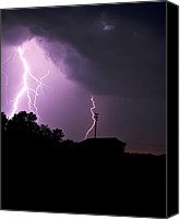 Angry Sky Canvas Prints - Electrifying Sky  Canvas Print by Scott Wood