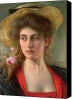 Signed Painting Canvas Prints - Elegante Canvas Print by Albert Lynch