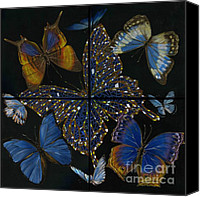 Faerie Canvas Prints - Elena Yakubovich Butterfly 2x2 Canvas Print by Elena Yakubovich