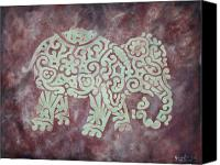 Earth Tones Canvas Prints - Elephant - Animal Series Canvas Print by Jennifer Kelly