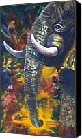Kd Neeley Canvas Prints - Elephant Canvas Print by Kd Neeley
