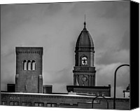 Skyline Canvas Prints - Eleven Twenty Says The Clock In The Tower Canvas Print by Bob Orsillo