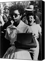 Blacks Canvas Prints - Elizabeth Eckford, One Of The Nine Canvas Print by Everett