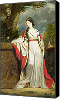 Aristocrat Canvas Prints - Elizabeth Gunning - Duchess of Hamilton and Duchess of Argyll Canvas Print by Sir Joshua Reynolds