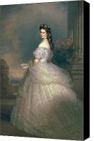 Tulle Canvas Prints - Elizabeth of Bavaria Canvas Print by Franz Xavier Winterhalter