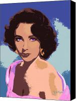 Elizabeth Taylor Canvas Prints - Elizabeth Taylor Canvas Print by John Keaton