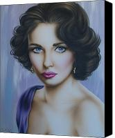 Elizabeth Taylor Canvas Prints - Elizabeth Taylor no.2 Canvas Print by Steve Baier