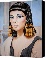 Elizabeth Taylor Canvas Prints - Elizabeths Cleopatra  Canvas Print by Al  Molina