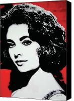 Elizabeth Taylor Canvas Prints - ElizabethTaylor Canvas Print by Luis Ludzska