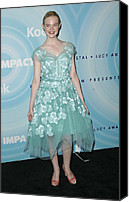 Tulle Canvas Prints - Elle Fanning Wearing A Dress By Marc Canvas Print by Everett
