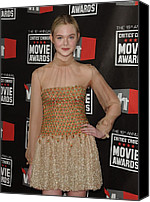 Half-length Canvas Prints - Elle Fanning Wearing Valentino Couture Canvas Print by Everett