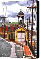 Ellicott Canvas Prints - Ellicott City Fire Museum Canvas Print by Stephen Younts