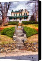 Ellicott Canvas Prints - Ellicott City House Canvas Print by Stephen Younts