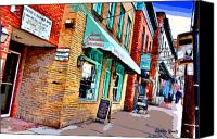 Ellicott Canvas Prints - Ellicott City Shops Canvas Print by Stephen Younts