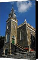 Ellicott Canvas Prints - Ellicott City Steeple Canvas Print by Murray Bloom