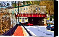 Trolley Canvas Prints - Ellicott City Canvas Print by Stephen Younts