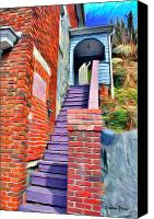 Ellicott Canvas Prints - Ellicott City Steps Canvas Print by Stephen Younts
