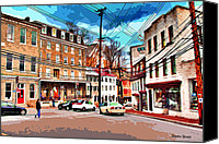 Ellicott Canvas Prints - Ellicott City Streets Canvas Print by Stephen Younts