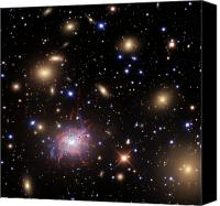Plasma Photo Canvas Prints - Elliptical Galaxy Ngc 1275 Canvas Print by R Jay GaBany