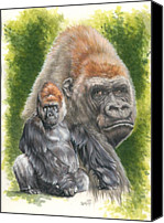 Gorilla Mixed Media Canvas Prints - Eloquent Canvas Print by Barbara Keith