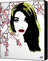 Alexandra Rose Canvas Prints - Elsa With Cherry Blossoms Canvas Print by Alexandra Rose