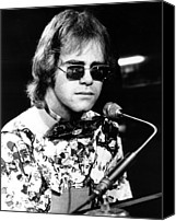 Perform Canvas Prints - Elton John 1970 Canvas Print by Chris Walter
