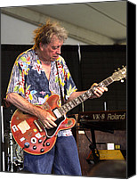Blues Guitar Canvas Prints - Elvin Bishop Canvas Print by Bill Gallagher