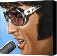 Singer Painting Canvas Prints - Elvis 24 1970 Canvas Print by Rob De Vries