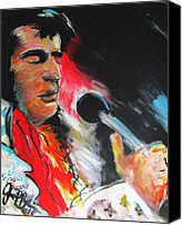 Jon Baldwin Art Canvas Prints - Elvis  Canvas Print by Jon Baldwin  Art
