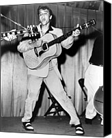 Music Photo Canvas Prints - Elvis Presley, C. Mid-1950s Canvas Print by Everett