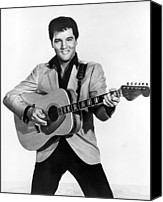 Publicity Shot Canvas Prints - Elvis Presley, C. Mid-1960s Canvas Print by Everett