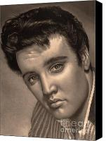 Hyperrealism Canvas Prints - Elvis Presley Canvas Print by Consuelo Venturi
