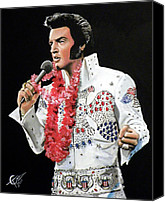 Elvis Canvas Prints - Elvis Canvas Print by Tom Carlton