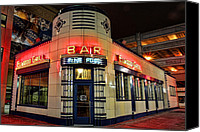 Detroit Tigers Art Canvas Prints - Elwood Bar and Grill Detroit Michigan Canvas Print by Gordon Dean II