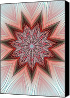 Titles Canvas Prints - Embossed Astract Star Canvas Print by Linda Phelps