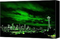 Seattle Skyline Canvas Prints - Emerald City Canvas Print by Benjamin Yeager