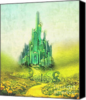 Featured Painting Special Promotions - Emerald City Canvas Print by Mo T