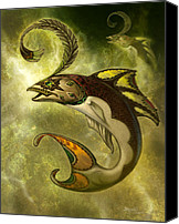 Fish Art Canvas Prints - Emerald fish Canvas Print by Jeff Haynie
