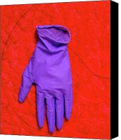 Glove Mixed Media Canvas Prints - Emergency Canvas Print by Chris  Riley