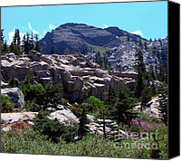 Sierra Canvas Prints - Emigrant Peak Squaw Valley USA Canvas Print by Scott McGuire