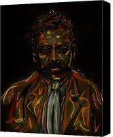 Emiliano Canvas Prints - Emiliano Zapata Canvas Print by Americo Salazar