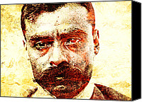 Emiliano Canvas Prints - Emiliano Zapata Canvas Print by Juan Jose Espinoza